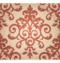 Damask floral pattern The wallpaper in Baroque vector image vector image