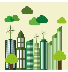 Eco Building City design graphic vector