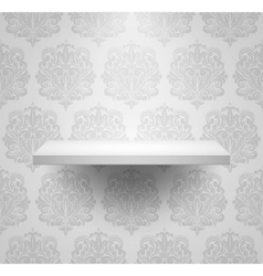 Empty isolated shelf vector image