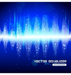 Equalizer blue on dark background poster vector