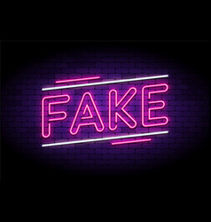 Fake news and false fraud facts vector