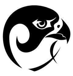 Falcon head symbol vector image