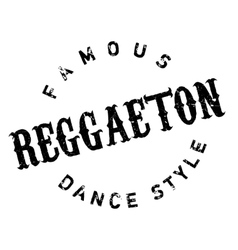 Famous dance style Reggaeton stamp vector