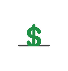 flat design concept of dollar money symbol into vector image