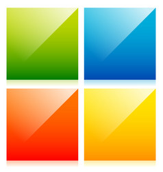 glossy colorful squares with blank space vector image