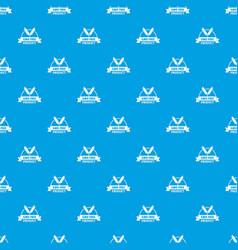 Gmo free bakery pattern seamless blue vector