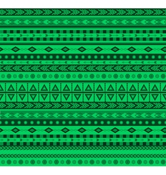 green aztec pattern vector image