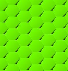 Green geometric hexagon background seamless vector image