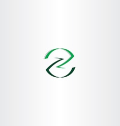 Green letter z icon logotype element design vector