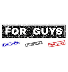 Grunge for guys textured rectangle watermarks vector