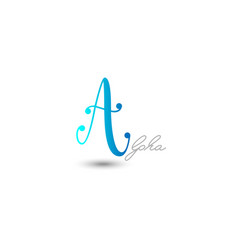 initial letter a graphic design vector image