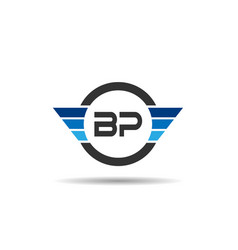 initial letter bp logo template design vector image