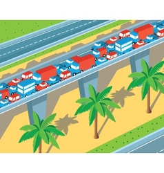 Isometric highway vector image