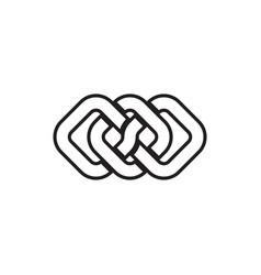 Lines square diamond bind each other interlock vector