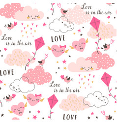love is in air pattern vector image