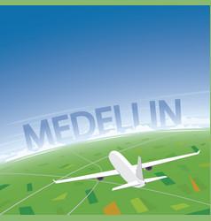 Medellin flight destination vector