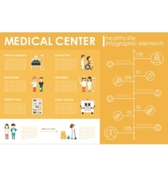 Medical Center concept Hospital infographic flat vector