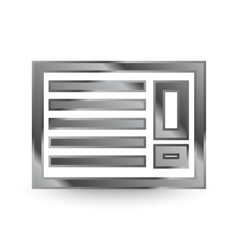 Metal air con icon vector