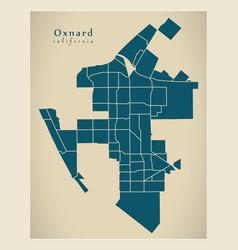 Modern city map - oxnard california city the vector