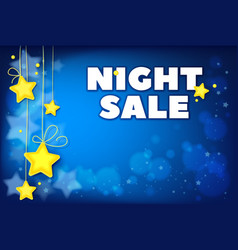night sale template for special offers vector image