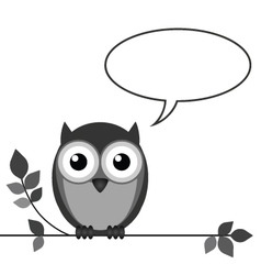 OWL TALK vector image