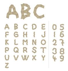 Paper alphabet letters vector