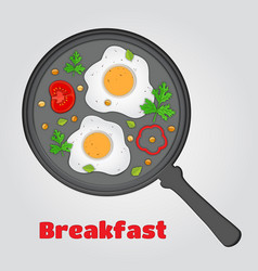 Paper cut breakfast eggs in papercut style vector
