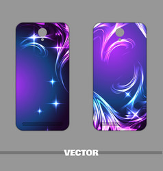 Phone cover night star vector