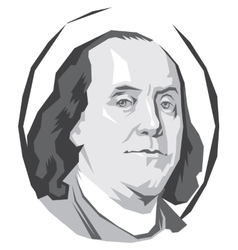 Portrait Benjamin Franklin vector