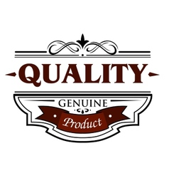 Quality genuine product banner vector