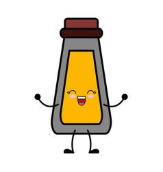 Sauce bottle icon vector