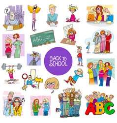 school and education carton set vector image