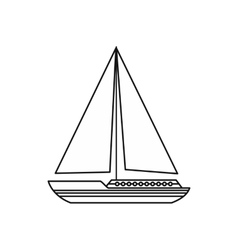 Sea yacht icon outline style vector image