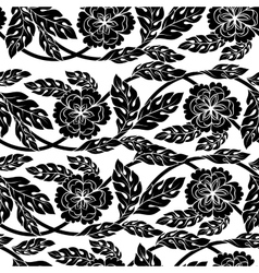 Seamless background wallpaper floral vector image