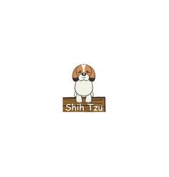 shih tzu cartoon dog icon vector image