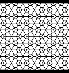 simple seamless geometric ornament in black and vector image