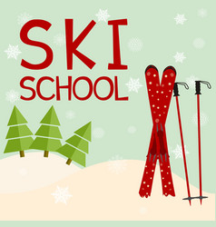ski school education training mentoring logo vector image
