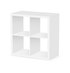 small square shelf unit vector image