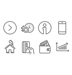 Smartphone debit card and payment card icons vector