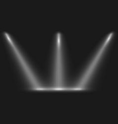Spotlight on black background vector
