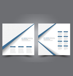 square flyer template brochure design vector image