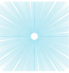 Sunburst background thin blue radial lines vector