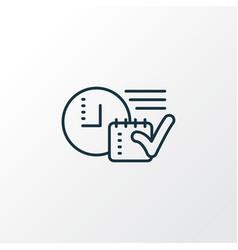 Time planning icon line symbol premium quality vector