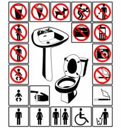 Toilet's symbol vector