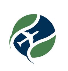 Travel logo agency adventure creative sign vector