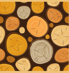 tree wood slice texture circle cut wooden vector image