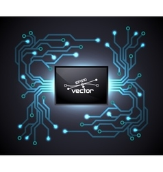 Trendy microchip vector image