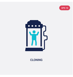 Two color cloning icon from future technology vector