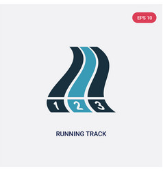 Two color running track icon from sports and vector
