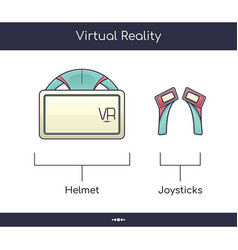 virtual reality helmet one vector image